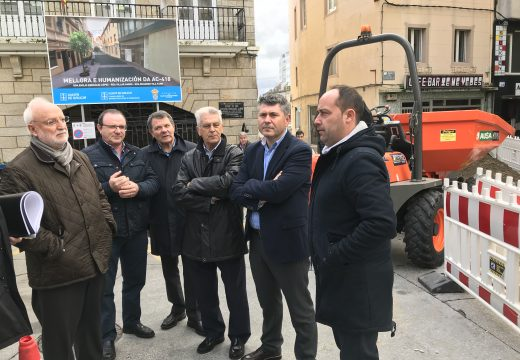 Ovidio Rodeiro supervisa o avance das obras da estrada ac-418, ao seu paso polo concello de Malpica, cun investimento de case 444.000 euros