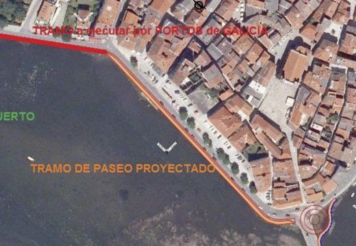 Santiago Freire agarda que as obras de adecuación da fachada marítima de Noia estean rematadas antes do verán