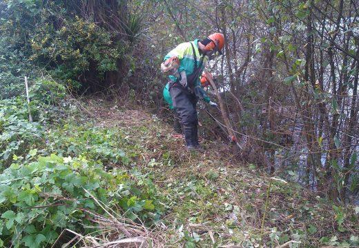 A Xunta executa actuacións de conservación e limpeza nos treitos interurbanos do río Berdeogas, no concello de Dumbría