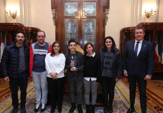 O Concello recoñece os éxitos do patinador coruñés Unai Cereijo cunha recepción oficial