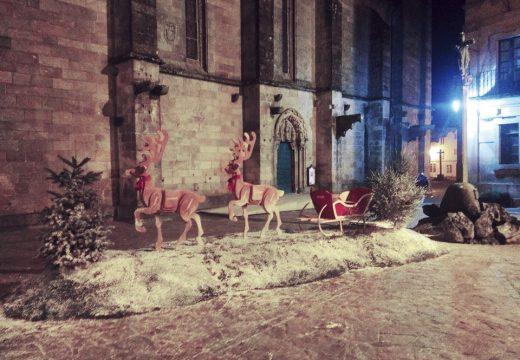 O Concello de Noia inicia a instalación dunha nova decoración de Nadal