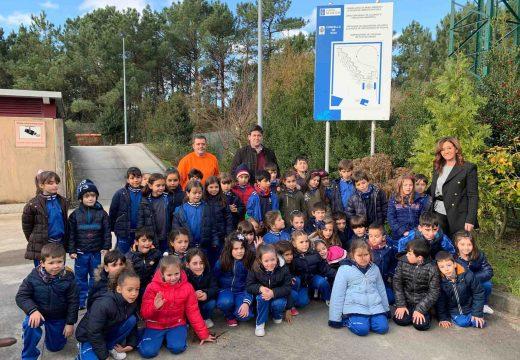 Alumnado de 1º e 2º de Primaria do colexio Jaime Balmes visitaron o punto limpo de Noia