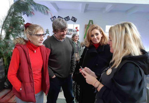 Diana Cabanas visita o Mercado das Nubes do Nadal, onde mandan as propostas eco e solidarias