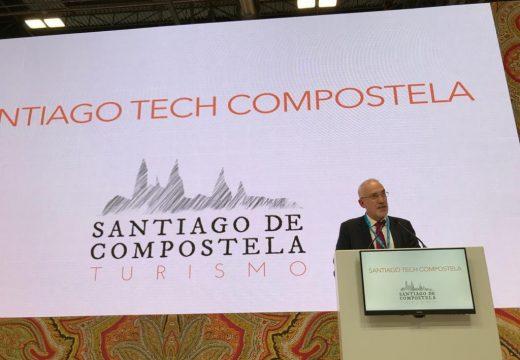 O concelleiro de Turismo presenta Santiago Tech Compostela en Fitur