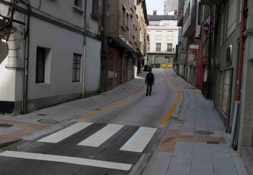 Rematadas as obras de humanización da rúa Reconciliación da vila de Ordes, por un importe de 40.000 euros.