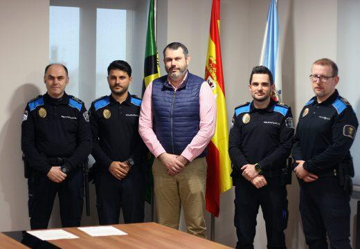 Pablo Díez e Andrés Nouche tomaron posesión como policías locais do Concello de Ordes