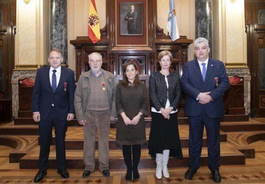Rey valora o traballo divulgativo da Asociación Histórico Cultural Royal Green Jackets
