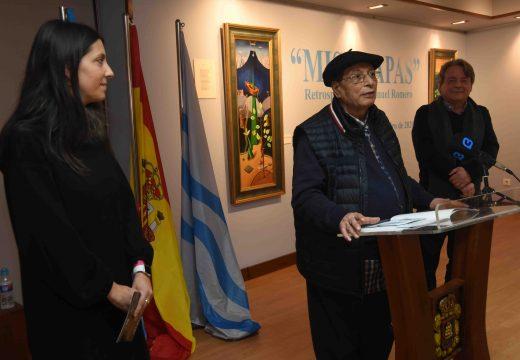 O cultural Lustres Rivas exhibe vinteséis obras do artista Manuel Romero nunha mostra retrospectiva da súa traxectoria