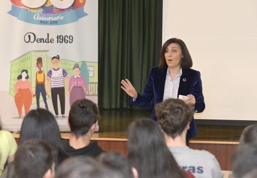 Ángeles Vázquez anima á mocidade galega a explorar as saídas profesionais que ofrece o 'Emprego Verde' como sector de futuro