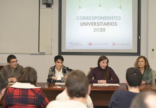 A Xunta destaca o papel dos correspondentes universitarios da UDC como canle de información e difusión dos programas destinados á xente moza