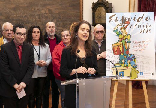 María Pita abandeira a troula deste Entroido coruñés que lembrará a Fernando Amaro