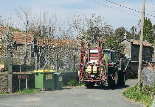 O Concello de Brión realizou traballos de limpeza e desinfección nas súas 106 aldeas