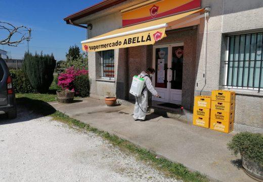 O Concello de Frades acomete tarefas de limpeza e desinfección nas zonas máis concorridas do municipio