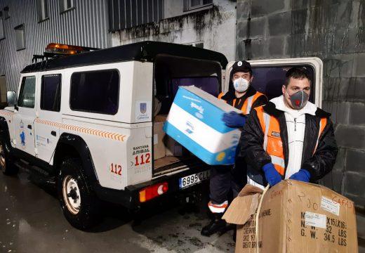 O Concello de Camariñas entrega 700 unidades de protección individual doadas por particulares e empresas no PAC de Vimianzo