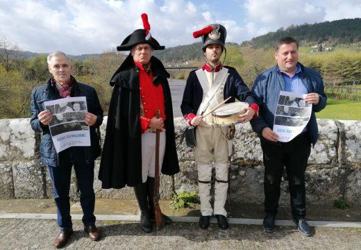 Os Concellos de Boqueixón e de Vila de Cruces reviven as batallas napoleónicas en dúas visitas teatralizadas a Ponte Ledesma