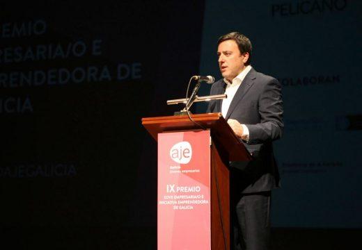 A Deputación amosa o seu apoio ao emprendemento nos IX Premios Joven Empresario e Iniciativa Emprendedora de AJE Galicia