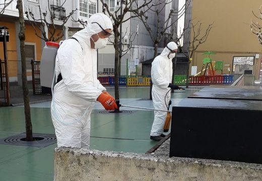 O Concello de Fene intensifica a hixiene dos espazos públicos como medida preventiva de contaxios