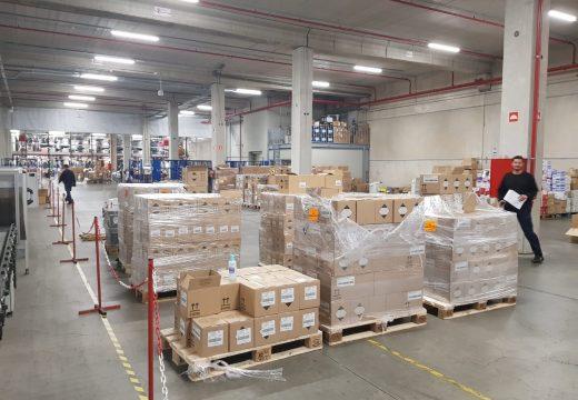 A Xunta realiza, entre hoxe e mañá, un segundo envío á cidade da Ferrol de máis de 7.623 equipos de protección