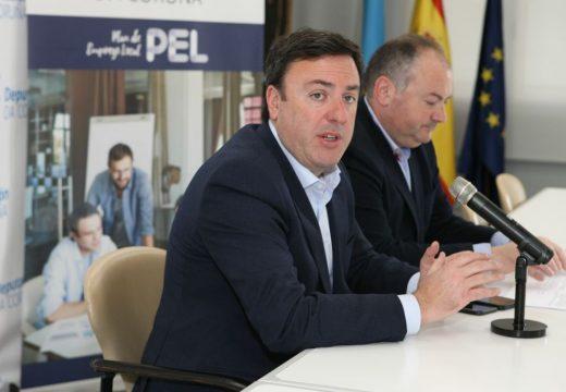 A Deputación da Coruña inviste 3 millóns de euros para crear 428 empregos nos concellos da provincia