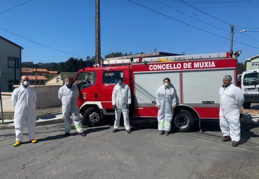 Muxía amplía os traballos de desinfección e limpeza dos colectores de todo o municipio