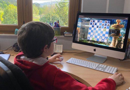 A Escola de Xadrez de Lousame obtén uns bos resultados no I Torneo Provincial de Xadrez Xogade, disputado a través de Internet