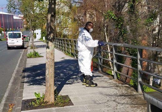 O Concello de Fene intensifica o labor de desinfección nos espazos públicos
