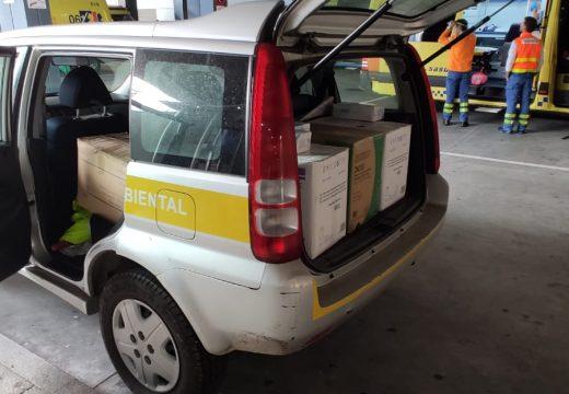 Medio Ambiente doa equipos de protección individual para o persoal do Chuac