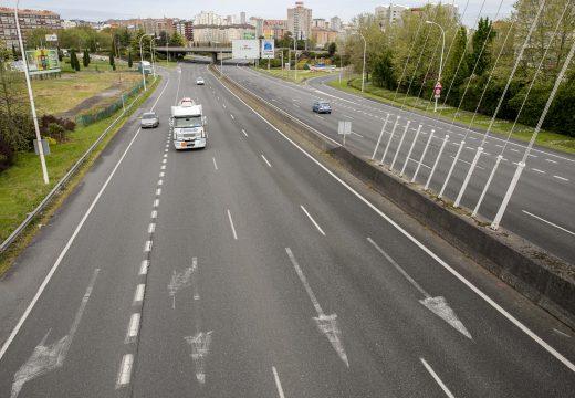 O tráfico redúcese nun 75% nas principais vías da cidade