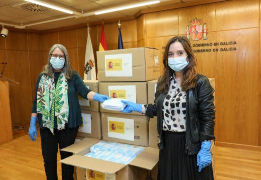 O concello repartirá 36.500 máscaras de protección doadas pola Delegación do Goberno