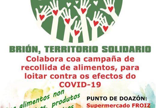 O Concello de Brión organiza a próxima semana unha campaña de recollida de alimentos para loitar contra os efectos da COVID-19