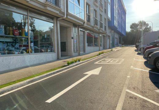 O Concello de Carral remata o plan de pavimentación e creación de beirarrúas en Río dá Melra, Manuel Ferrol e Méndez Búa