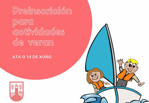 O Concello de Camariñas abre mañá o prazo de preinscrición para os campamentos 'Concilia' de verán e de actividades náuticas