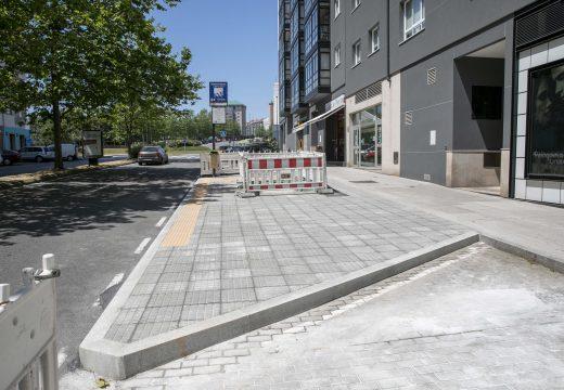 Mobilidade remata as obras que garanten a accesibilidade de todas as paradas de bus de Novo Mesoiro