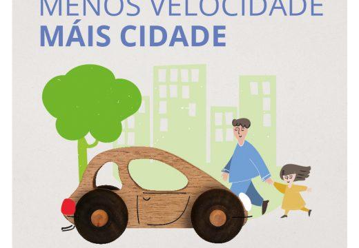 O Concello lanza unha campaña para informar a veciñanza da limitación xeral de 30 km/h nas rúas da cidade
