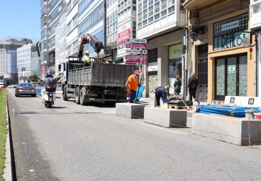Mobilidade consolida o carril dos Cantóns para uso peonil