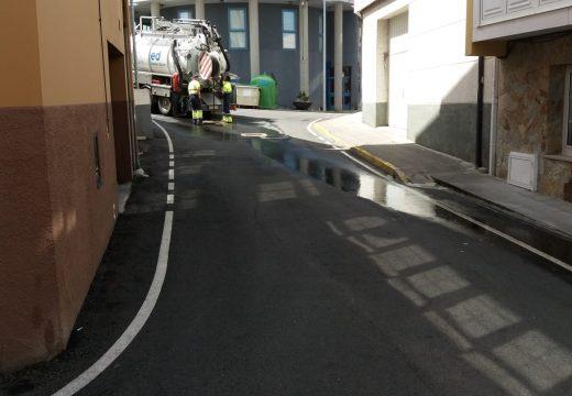 O Concello levará a cabo este luns as obras no sistema de canalización das rúas Condomiñas,  e Rúa