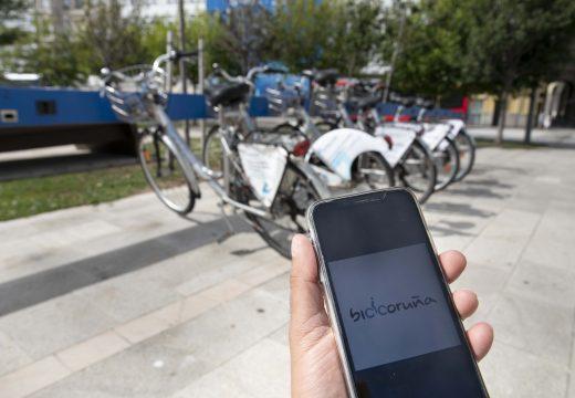 O concello lanza a aplicación móbil BiciCoruña que permite retirar as bicicletas sen que sexa necesario utilizar a tarxeta