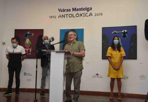 Unha exposición antolóxica de Xosé Luis Veiras Manteiga enche de cor as tres salas d Museo do Gravado de Artes