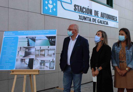 A estación de autobuses do Concello de Noia mellora a súa funcionalidade tras completar a súa rehabilitación