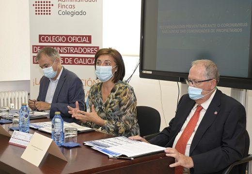 A Xunta e o Colexio de Administradores de Fincas presentan unha Guía de pautas fronte á covid para poder celebrar xuntas veciñais