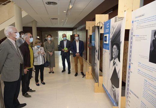 A Biblioteca Pública da Coruña Miguel González Garcés acolle desde hoxe a mostra «Carvalho Calero, A Voz Presente»