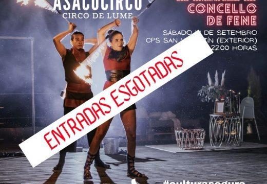 """Esgotadas as entradas para o espectáculo """"Circo de lume"""" de Asacocirco"""
