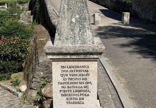 O Concello de Boqueixón agradece a doazón de Roberto Rivas Martínez para mellorar o estado do monolito homenaxe aos combatentes na batalla de Ponte Ledesma