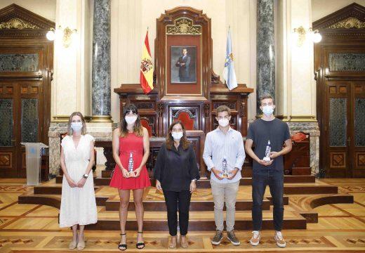 O concello homenaxea a tres campións de España