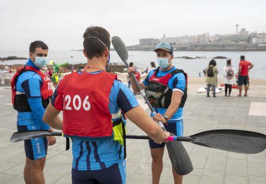 Preto de 300 padexeiros/as participaron hoxe na III Ocean Race Cidade da Coruña