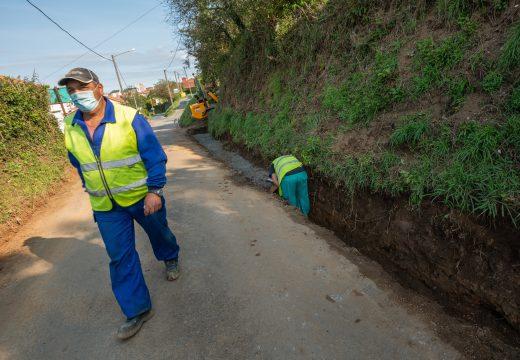 En marcha a reparación da estrada entre a Rúa Travesa e Santa Ana
