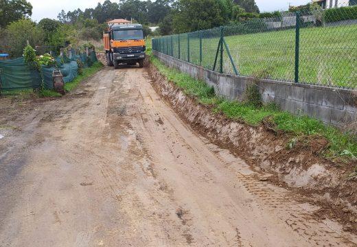 O Concello reforza a seguridade viaria na parroquia de Paleo coa mellora de dous camiños