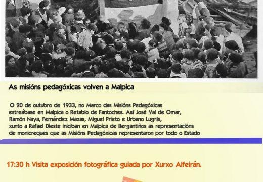 Malpica celebrará este domingo o LXXXVII Aniversario das Misións Pedagóxicas cunha programación cultural adaptada