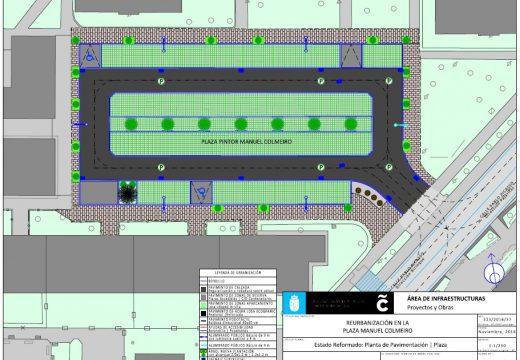 O Concello reurbanizará a praza Pintor Manuel Colmeiro de Elviña