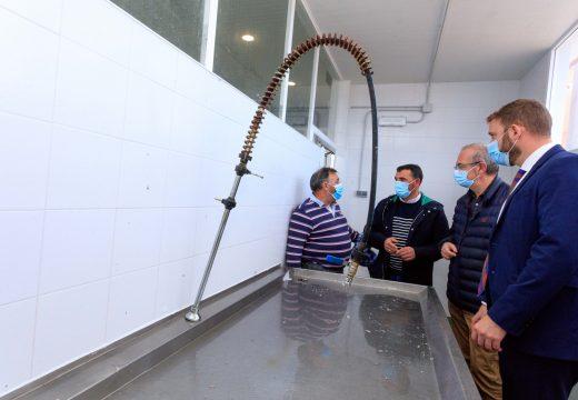 Trenor supervisa as obras de dragaxe do Porto de Laxe e confirma a finalización das obras de drenaxe de pluviais